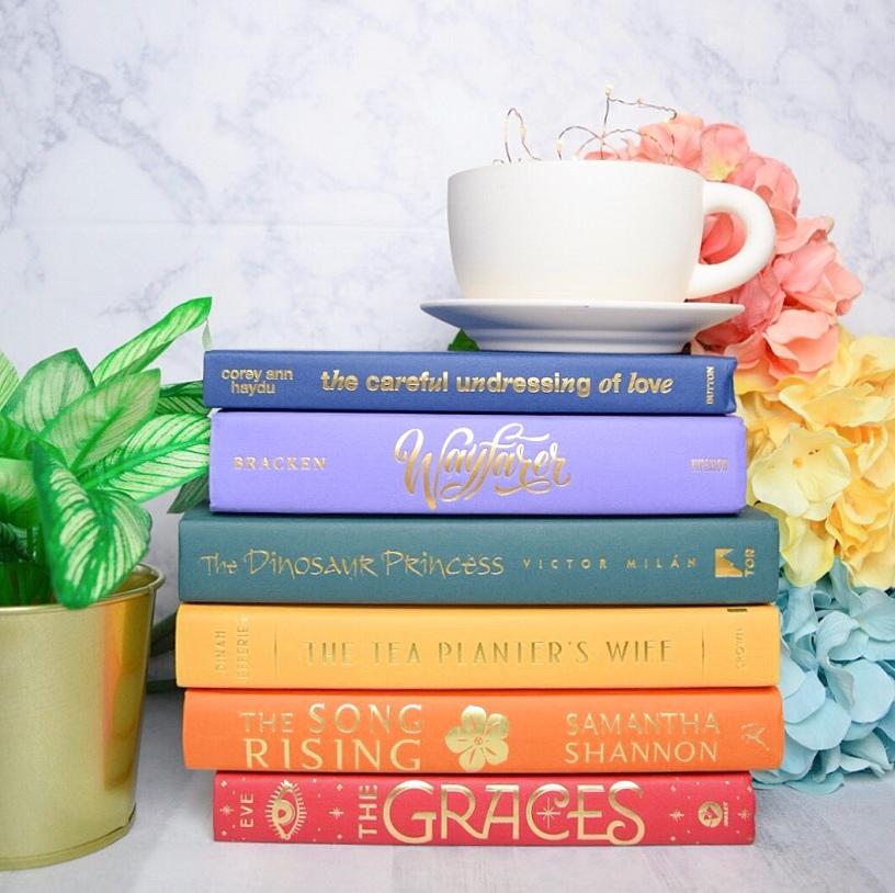 teacup rainbow stack